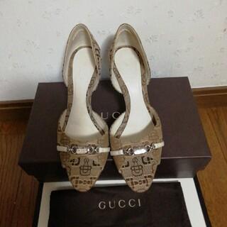 グッチ(Gucci)の美品 GUCCIパンプス(ハイヒール/パンプス)