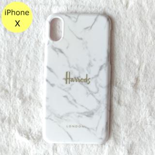 ハロッズ(Harrods)のセール中♪ Harrods 大理石柄 ハード iPhoneケース X ホワイト(iPhoneケース)