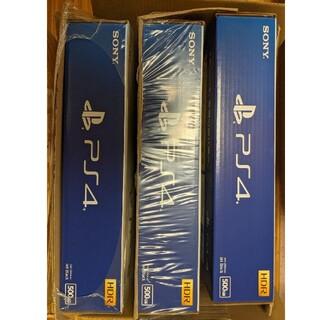 PlayStation4 - PS4本体まとめて3台新品未開封店舗印なし CUH-2200AB01
