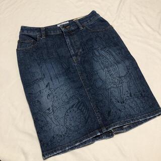 ツモリチサト(TSUMORI CHISATO)のツモリチサト 総柄 デニムタイトスカート デニムスカート 2(ひざ丈スカート)