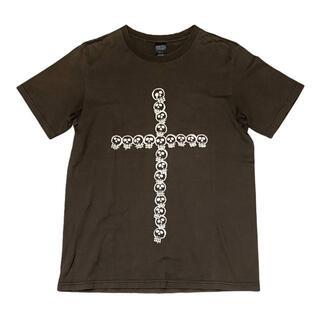 NUMBER (N)INE - 37-71)ナンバーナイン スカルクロス ダメージ加工Tシャツ チャコール 2