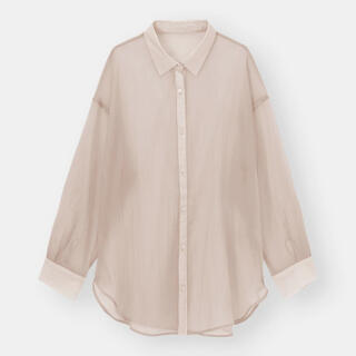 GU - 大人気商品♡ほぼ新品 GU シアーロングシャツ pink