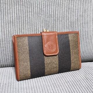 フェンディ(FENDI)のFENDI フェンディ ペカン がま口 ズッカ レザー PVC   財布(財布)