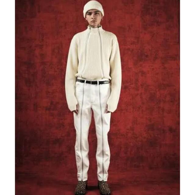 JOHN LAWRENCE SULLIVAN(ジョンローレンスサリバン)のFRONT ZIPPED DENIM PANTS 渋谷パルコ限定 メンズのパンツ(デニム/ジーンズ)の商品写真