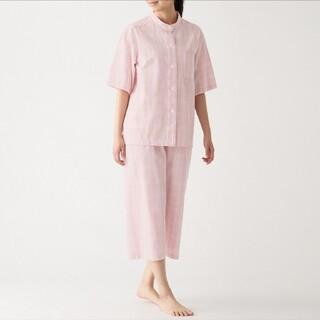 ムジルシリョウヒン(MUJI (無印良品))の脇に縫い目のない サッカー織り 半袖パジャマ(七分丈パンツ)M(パジャマ)