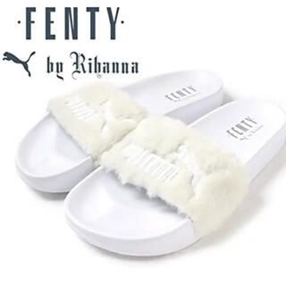 PUMA - 未使用★FENTY PUMA By RIHANNAファーサンダル ホワイト