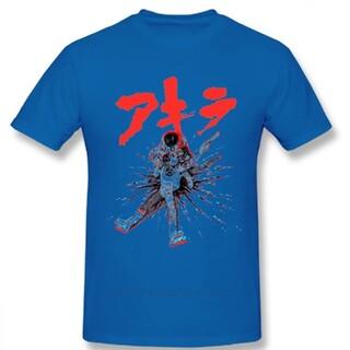 ★新品 未使用★アキラ Tシャツ Lサイズ ブルー 青