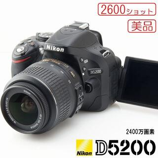 Nikon - 美品★Nikon D5200 2600ショット 高画質一眼レフ バリアングル