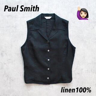 Paul Smith - ◎Paul Smith◎ポールスミス◎リネンシャツ◎ジレ◎開襟シャツ◎ブラック◎