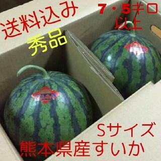 熊本県産すいか秀品2玉セットSサイズ7・5キロ以上
