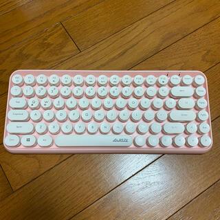 AJAZZ Bluetooth キーボード ピンク 308i タイプライター風