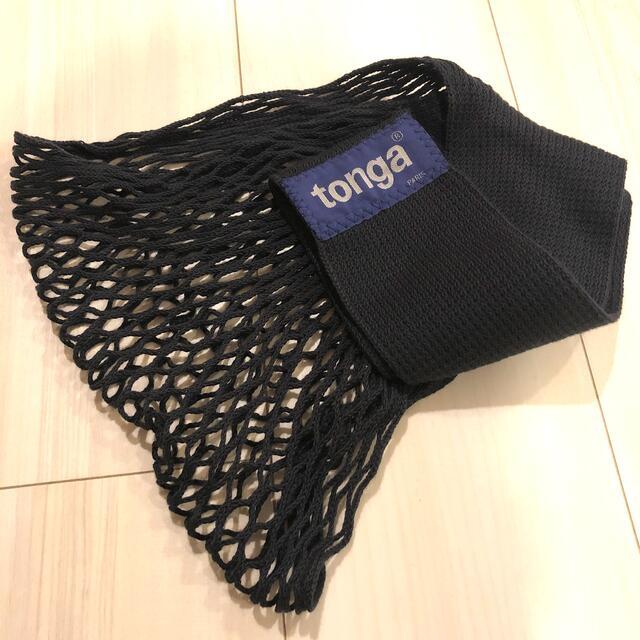 tonga(トンガ)の【美品】tonga トンガ ベビーホルダー スリング 抱っこ紐 ブラック キッズ/ベビー/マタニティの外出/移動用品(抱っこひも/おんぶひも)の商品写真