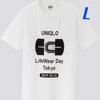 ユニクロ(UNIQLO)の【L】白 UNIQLO LifeWear Day Tokyo Tシャツ(ウェア)
