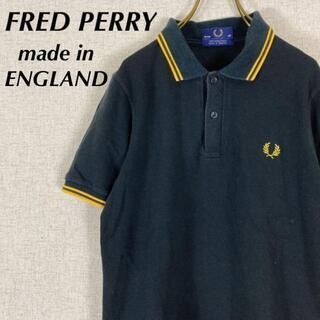 フレッドペリー(FRED PERRY)のFRED PEARY フレッドペリー ポロシャツ 半袖 ブラック×イエロー(ポロシャツ)