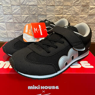mikihouse - 新品★ミキハウス(MIKIHOUSE)スニーカー 21㎝ 黒★子供用 靴★ミズノ