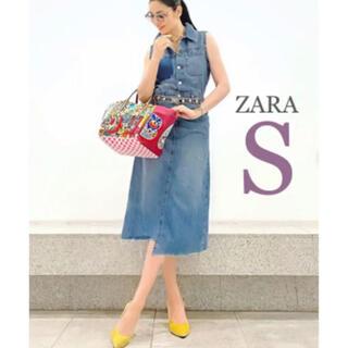 ZARA - 【新品・未使用】ZARA アシンメトリー  デニム ワンピース  S