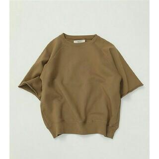 TODAYFUL - 【美品】TODAYFUL ラグランハーフスリーブスエット 半袖Tシャツ 秋色モカ