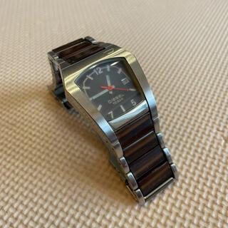 DIESEL - ディーゼル 六角形 腕時計 茶色 シルバー レトロ