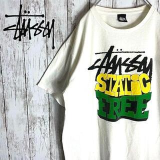 STUSSY - STUSSY ステューシー Tシャツ デカロゴ 古着 良カラー プリントT レア
