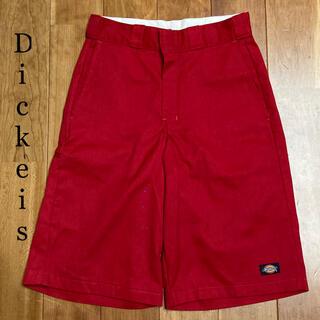 ディッキーズ(Dickies)のDickies ハーフパンツ ワークショーツ LOOSE FIT レッド W28(ショートパンツ)