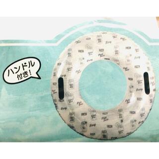 ハンドル付きホワイトフレッシュ 浮き輪【サイズ】膨らませた 内周 約115センチ