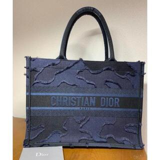 ディオール(Dior)のDior ブックトート スモール 希少 ネイビー カモフラ(トートバッグ)