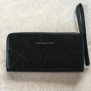Maison Martin Margiela - 黒新品 メゾン マルジェラ MM6 レディース 長財布 エンボス ブラック 財布