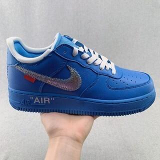 ナイキ(NIKE)のOFF WHITE x Nike Air Force 1 MCA Blue(スニーカー)