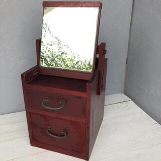 木製鏡台 コンパクト鏡台 メイクボックス 化粧台