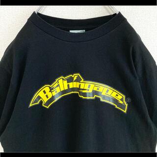 A BATHING APE - 初期タグ BAPE APE エイプ Tシャツ ブラック 黒 両面プリント 90s