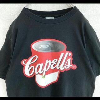 アベイシングエイプ(A BATHING APE)の初期タグ BAPE APE エイプ Tシャツ ブラック 黒 キャンベル缶 90s(Tシャツ/カットソー(半袖/袖なし))