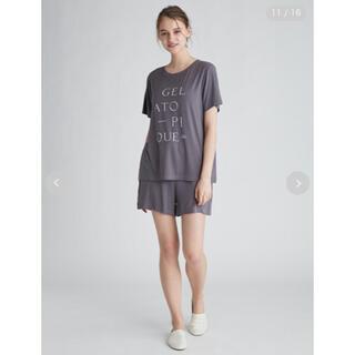 gelato pique - ジェラートピケ レーヨン ロゴTシャツ ショートパンツ