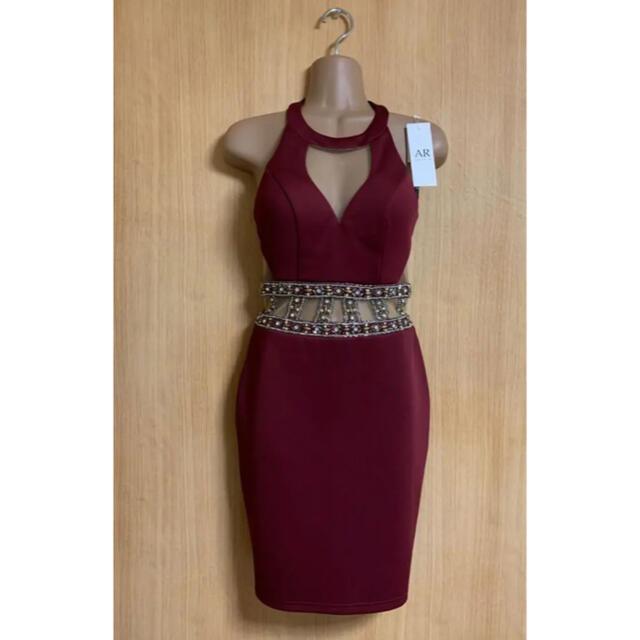 AngelR(エンジェルアール)の9221*ウエストビジュー/カットアウトドレスrdM レディースのフォーマル/ドレス(ナイトドレス)の商品写真