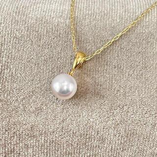 ミキモト(MIKIMOTO)のミキモト 1珠 K18 ネックレス(ネックレス)