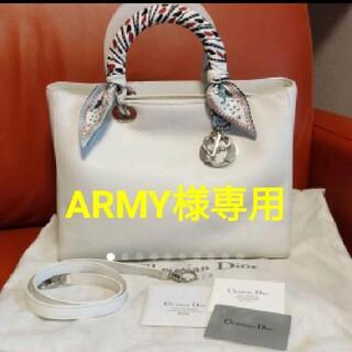 Christian Dior - 可愛い★【ディオール☆2wayレザーバッグ】★ホワイト