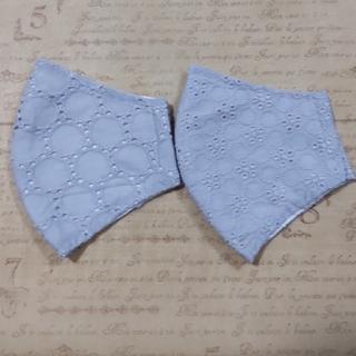 マスク(THE MASK)の(8)2枚セット✾sale✾  ゆったりsize  夏向き刺繍インナーマスク (その他)