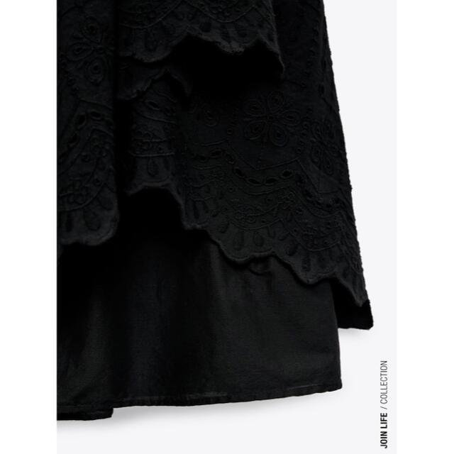 ZARA(ザラ)のZARA カットワーク刺繍ワンピース レディースのワンピース(ロングワンピース/マキシワンピース)の商品写真