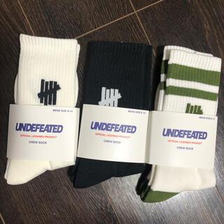 アンディフィーテッド(UNDEFEATED)のundefeated 靴下 SOCKS ソックス アンディフィーテッド 3足(ソックス)