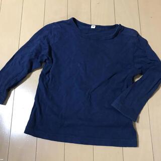 ムジルシリョウヒン(MUJI (無印良品))の無印良品 紺色の長袖Tシャツ 90 カットソー ロンT(Tシャツ/カットソー)