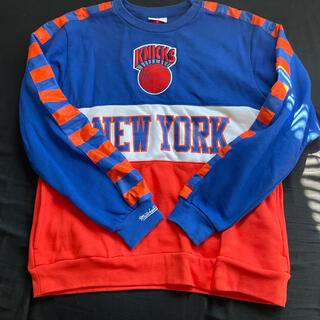 MITCHELL & NESS - Mitchell&Ness NBA Fleece Crew Knicks バスケ
