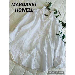 MARGARET HOWELL - マーガレットハウエル リネンシャツ ホワイト定番シャツ
