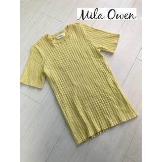 ミラオーウェン(Mila Owen)のMila Owen*リブニット❤️サイズ0 イエロー(ニット/セーター)