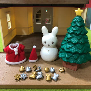 EPOCH - シルバニア クリスマスツリー 雪だるま うさぎ クリスマス 洋服