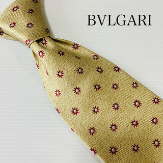 ブルガリ(BVLGARI)のほぼ未使用 ブルガリ ネクタイ セッテピエゲ 高級 ビジネス 超高級(ネクタイ)