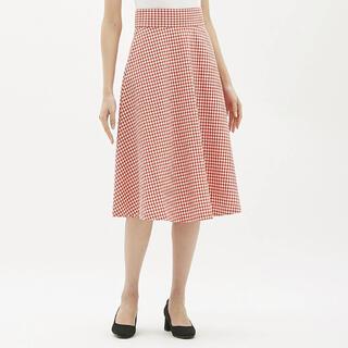 GU - GU 赤チェックロングスカート
