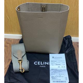 セリーヌ(celine)の極美品正規品CELINE セリーヌ サングル バケット スモール グレー(ショルダーバッグ)