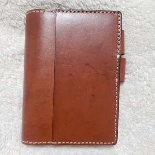 ヘルツ(HERZ)のHERZ ほぼ日手帳カバー(IL―104) アンバー(ファイル/バインダー)