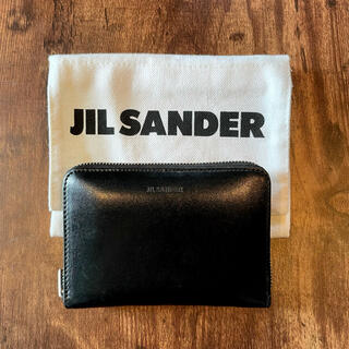 Jil Sander - JIL SANDER ジップアラウンド ウォレット 財布 ブラック