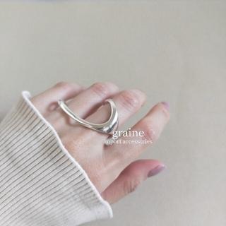 Ameri VINTAGE - 【NEW】925 finger ring 🌼 ラスト1点