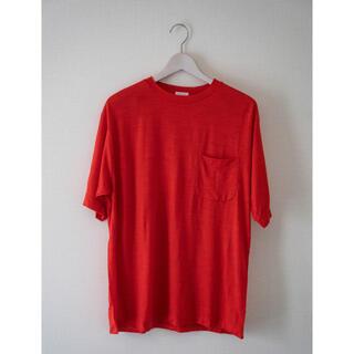 コモリ(COMOLI)のCOMOLI ウール天竺半袖クルー サイズ 2(Tシャツ/カットソー(半袖/袖なし))